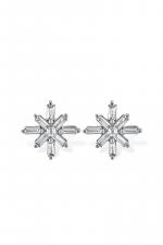 Diamond & Gold Snowflake Earrings