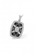 Diamond & Onyx Necklace