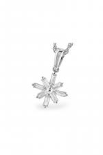 Diamond Snowflake Pendant Necklace