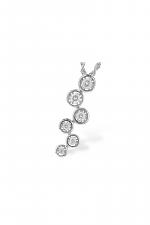 Multi Circled Diamond Pendant Necklace