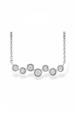 Abstract Diamond & White Gold Bar Necklace