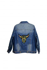 Hand Embroidered Jacket Longhorn Collection