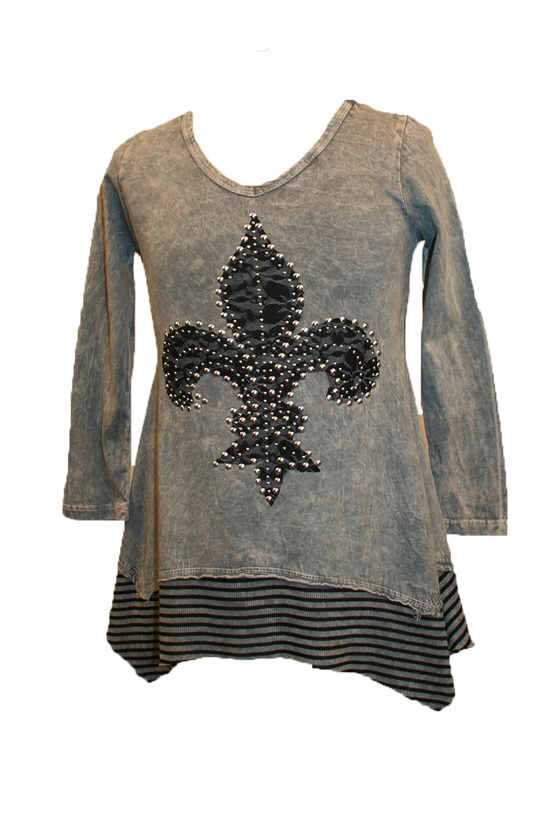 KIDS Long Sleeve Top with Fleur de Lis