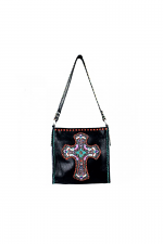 Hand Embroidered Cross Tote Bag