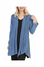 Mineral Washed Jacket with Wavy Contrast