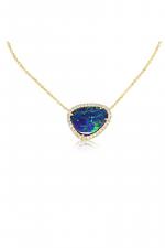 14K Yellow Gold Australian Opal/Diamond Neckpiece