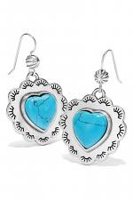 Southwest Dream Spirit Heart French Wire Earrings