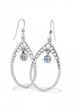 Marrakesh Mystique Open Teardrop French Wire Earrings