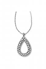 Pebble Open Teardrop Necklace
