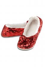 Ballerina Bling Metallic Shine Womens Cozy Sequin Slippers