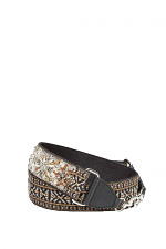 Jewel Stud Jacquard Adjustable Guitar Strap