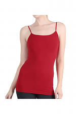 Long Camisole in Scarlet