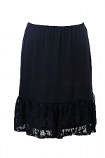 Layered Ruffled Lace Underskirt in Black