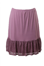Layered Ruffled Lace Underskirt in Mauve