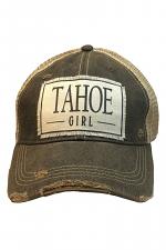 Tahoe Girl Women's Distressed Trucker Cap
