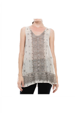 Tank Top With Lace Contrast