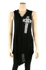 Cross Vest, Black