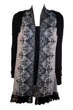 Cardigan With Lace Trim