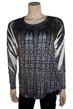 L/S Open Back Top With Stones