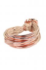 Rose Gold Tube Bracelet in Rose/Sand