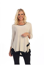 Solid Wide Bottom Tunic