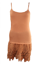 Tank Dress With Lace Bottom