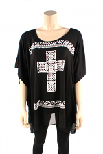Black Top with Cross