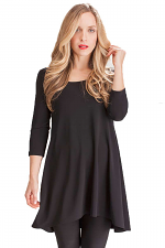 3/4 SLV Go To Low Neck Tunic
