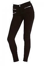 821 Zoey Tripple Zip Skinny Leg In Black