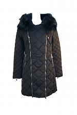 Down Jacket W-Zippers Fur Trim