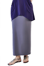 Maxi Skirt in Titanium Grey