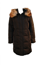 Quilted Down W-Fur Trim Hood