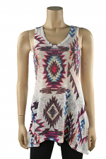 Aztec Tank Top in Multi