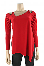Long Sleeve Focus Tunic in Red