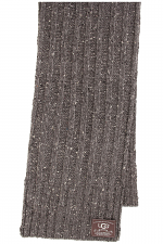 Mix Ribbed Scarf in Charcoal