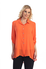 Chiffon Blouse in Orange