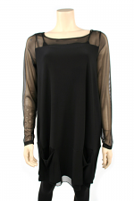 Mix Trace Tunic, Black
