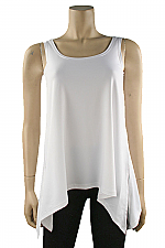 Sleeveless Mimic Top in White