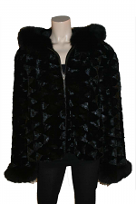 Mink With Fox Trim Jacket