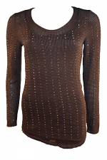 Brown Top With Stones