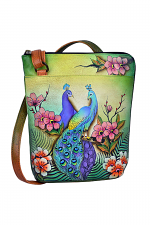 Passionate Peacocks Two Sided Zip Travel Organizer