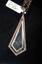 Silver Diamond Crystal Pendant