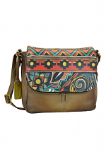 Antique Aztec Zip Around Organizer Satchel