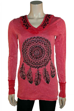 L/S Hoodie With Feathers