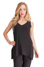 Sleeveless Go To Wide V-Neck Top