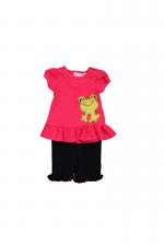 Pink 3 Piece Frog Dress