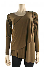 Long Sleeve Melody Top In Mink