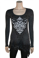 L/S Dress With Lace Bottom