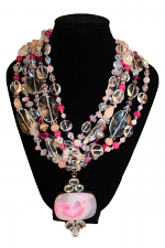 Pinky- 5 Strand Necklace