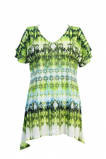 Sublimation Open Shoulder Tunic
